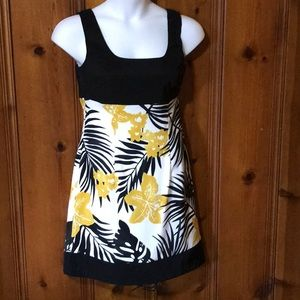 Sleeveless  Black and Gold Dress, Size 12